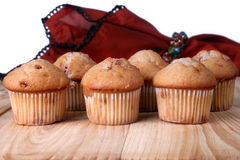 Cinnamon Chip Muffins Stock Photography