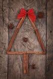 Cinnamon Christmas tree with star anises Stock Photography