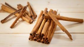 Cinnamon. Cinanmon on the wood table Stock Photography