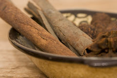 Cinnamon close-up royalty free stock image