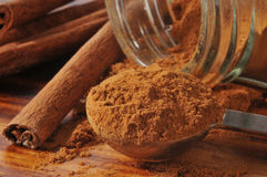 Cinnamon closeup Royalty Free Stock Images