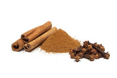 Cinnamon, clove Stock Photography