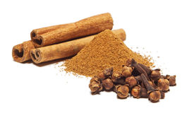 Cinnamon, clove Stock Photos