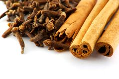 Cinnamon and clove Royalty Free Stock Image