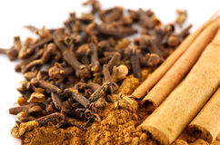 Cinnamon and clove Stock Image