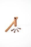 Cinnamon and clove Royalty Free Stock Photos