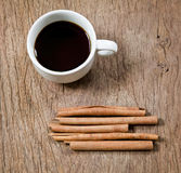 Cinnamon and coffee Stock Photography