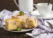 Cinnamon coffee cake Royalty Free Stock Image