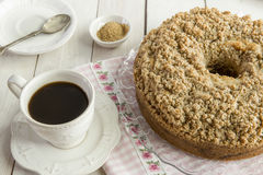 Cinnamon coffee cake. Homemade cinnamon streusel coffee cake Stock Photography