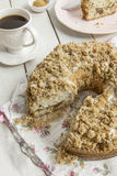 Cinnamon coffee cake. Homemade cinnamon streusel coffee cake Royalty Free Stock Photography