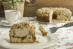 Cinnamon coffee cake Stock Images