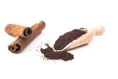 Cinnamon and Coffee Stock Photography