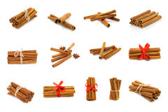Cinnamon collage Stock Photo