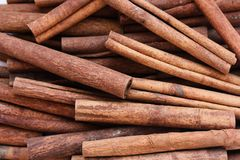 Cinnamon composition Stock Photos