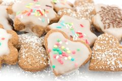 Cinnamon cookies frosted Royalty Free Stock Images