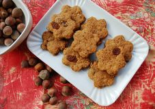 Cinnamon cookies with raisins Royalty Free Stock Images