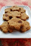 Cinnamon cookies with raisins Royalty Free Stock Photos