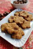 Cinnamon cookies with raisins Royalty Free Stock Photography