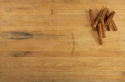 Cinnamon on Countertop Stock Photography