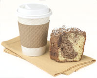 Cinnamon crumb cake. Fresh gourmet crumb cake and coffee stock photos