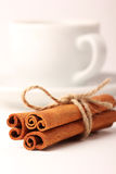 Cinnamon, cup with white background series - 1 Royalty Free Stock Photography