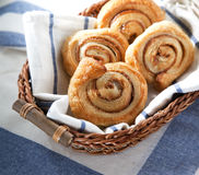 Cinnamon danish bun Stock Photo