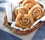 Cinnamon danish bun Stock Photo