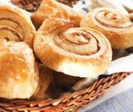 Cinnamon danish bun Stock Photography