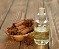 Cinnamon essential oil Stock Image