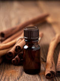 Cinnamon essential oil Stock Photo