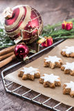Cinnamon-flavoured star-shaped biscuits Stock Images