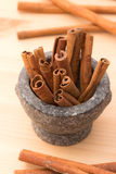 Cinnamon Fragrant Strike To Food Dishes, Desserts And Drinks. To Royalty Free Stock Photography