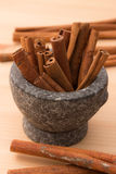 Cinnamon fragrant strike to food dishes, desserts and drinks. To Stock Photos