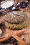 Cinnamon ginger snap sugar cookies Royalty Free Stock Photography
