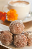 Cinnamon and golden raisin beignets Royalty Free Stock Photo