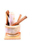 Cinnamon and grinder Stock Photography