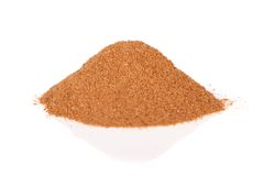 Cinnamon ground isolated on white background Royalty Free Stock Image
