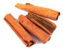 Cinnamon. Group of Cinnamon stick for food seasoning stock photography