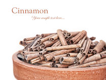 Cinnamon heap at white Royalty Free Stock Photo
