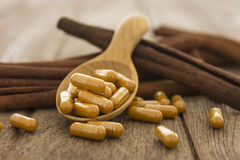 Cinnamon, herbs and spices Royalty Free Stock Photography