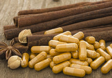 Cinnamon, herbs and spices Stock Image