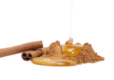 Cinnamon and honey Royalty Free Stock Photography