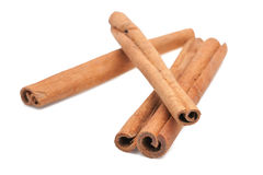 Cinnamon isolated on white background Royalty Free Stock Photo