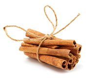 Cinnamon. Isolated on white background Royalty Free Stock Photos