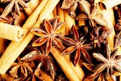 Cinnamon macro shot. Stock Photos