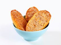 Cinnamon Melba toast Royalty Free Stock Image