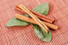 Cinnamon And Mint Royalty Free Stock Photography
