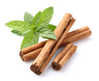 Cinnamon with mint Stock Images