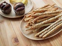 Cinnamon Mulberry Sesame bakery Stock Images