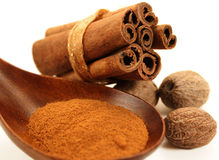 Cinnamon and Nutmeg Stock Photos